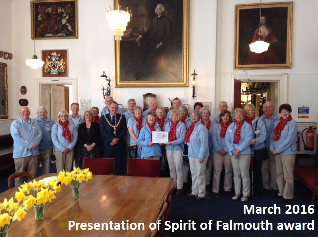 March 2016 - presentation of Spirit of Falmouth award